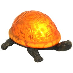 American Tiffany Style Turtle Table Lamp