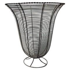 American Trumpet-Shaped Garden Wire Basket, 1940s