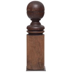 American Turned Newel Finial Post