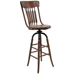 American Victorian Bookkeepers Swivel Stool