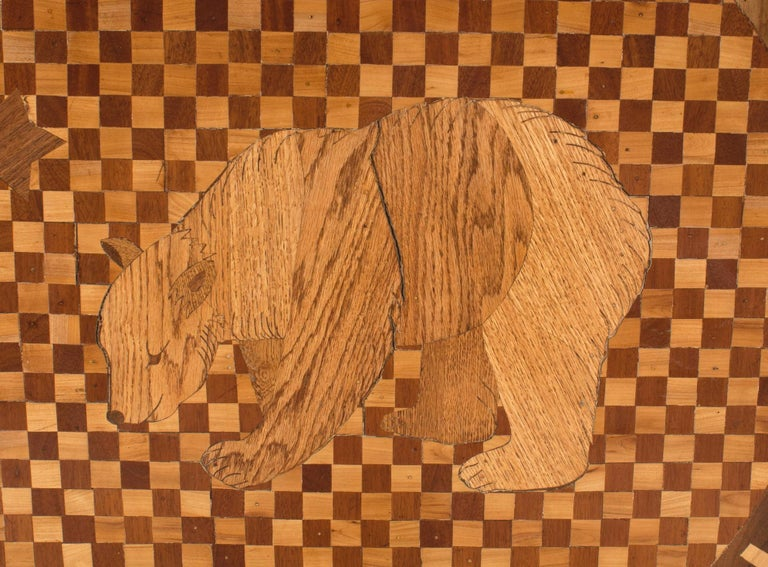 American Victorian Floor Inlay Panel In Good Condition For Sale In New York, NY