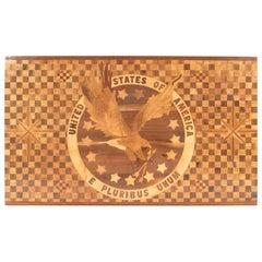 American Victorian Inlay Floor Panel 'E Pluribus Unum'