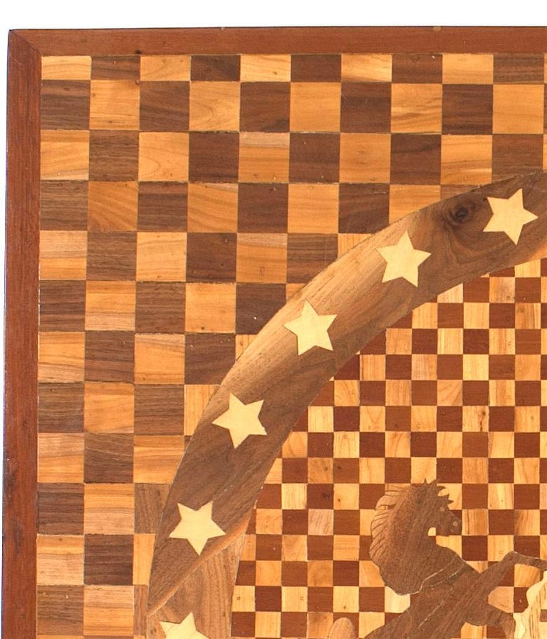 American Victorian '19th century' inlay panel from the flooring of the central rotunda of the California State Capital in Sacramento showing the seal of Pennsylvania (1 of 3).