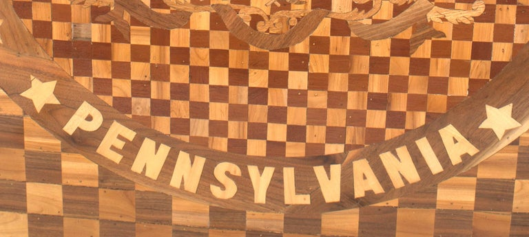 American Victorian Inlay Panel 'Pennsylvania' In Good Condition For Sale In New York, NY
