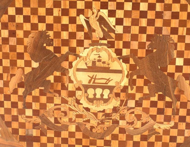 19th Century American Victorian Inlay Panel 'Pennsylvania' For Sale