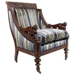 American Victorian Mahogany Armchair