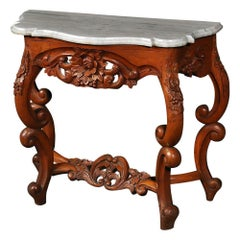 American Victorian Marble-Top Console Table