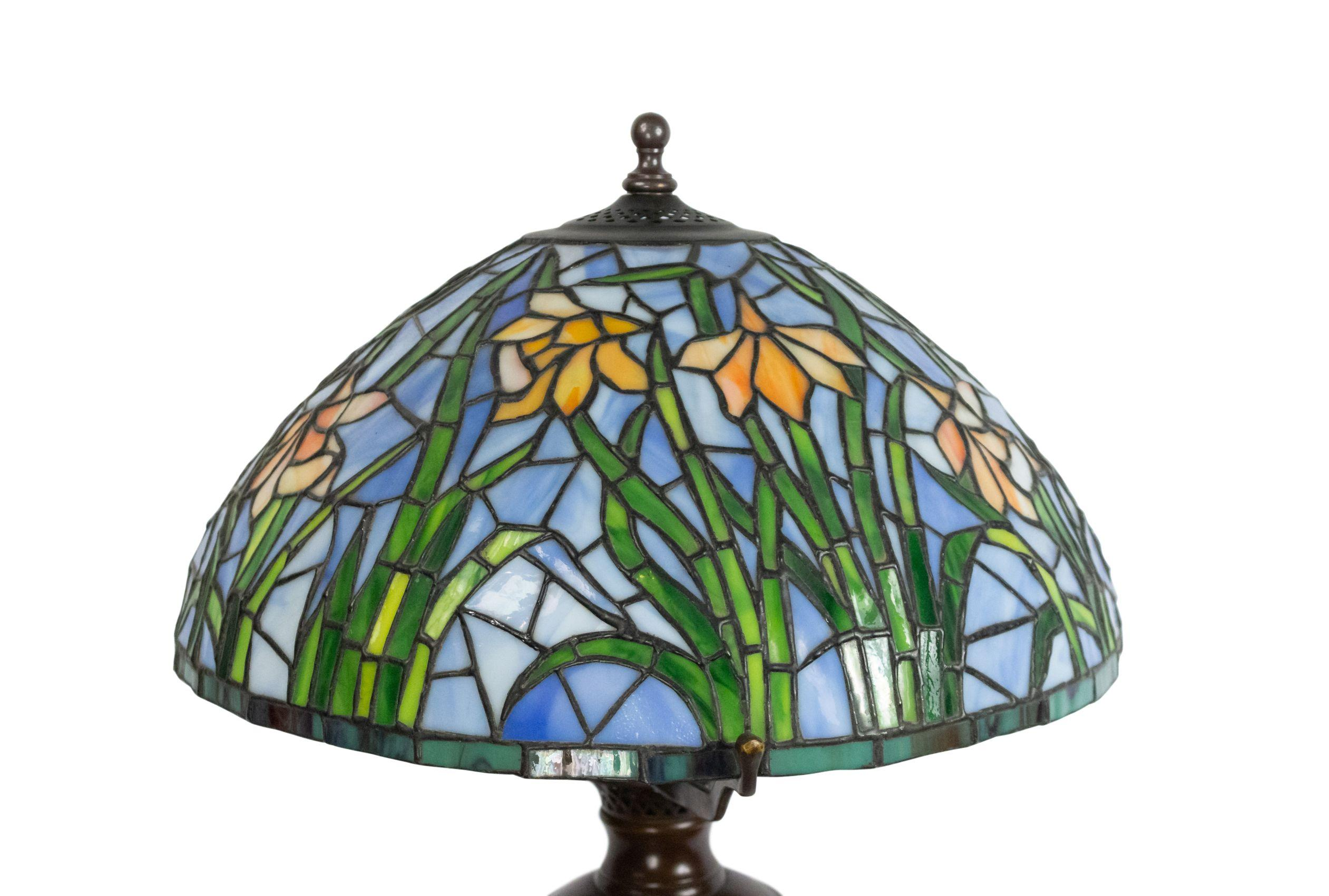 American Victorian Stained Glass Lamp For Sale At 1stdibs