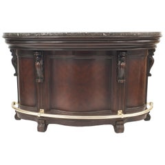 American Victorian Style Stained Wood Bar