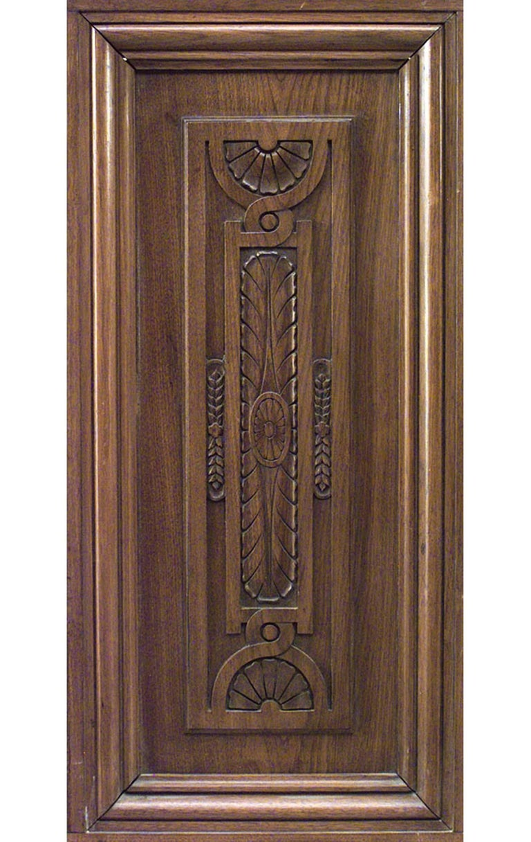 American Victorian Walnut Carved Panels with 54