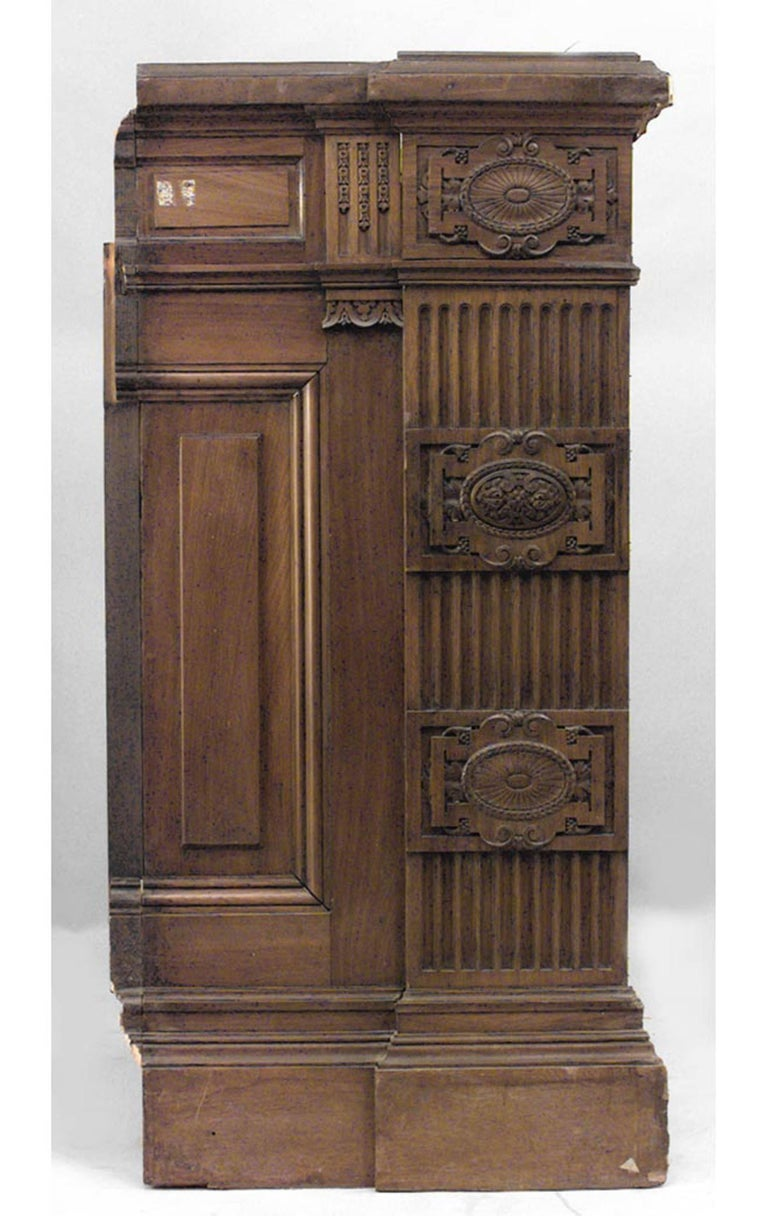20th Century American Victorian Walnut Carved Panels with 54