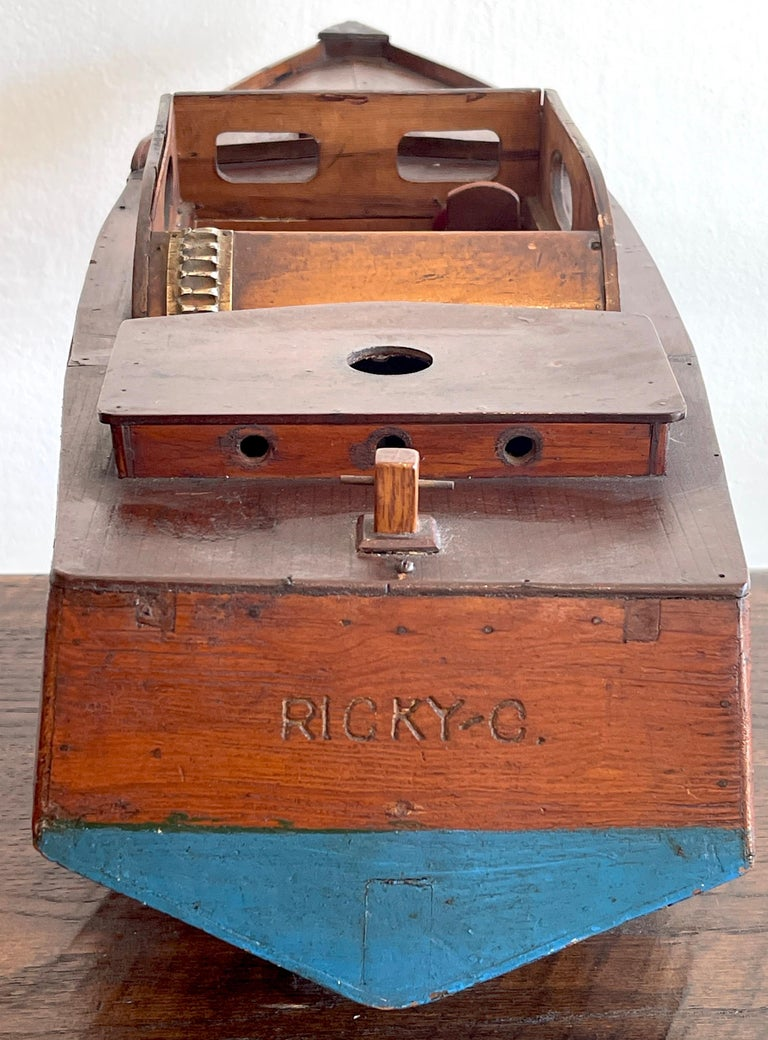 Wood American Vintage Model of a Speedboat 'Ricky-O' For Sale