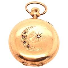 American Waltham Co. Antique 14 Karat Yellow Gold Pocket Watch