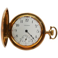 American Waltham Co. Antique Yellow Gold Pocket Watch