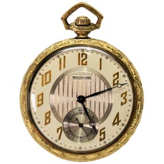 American Waltham Watch Company Men's Pocket Watch with Skeleton Display Back