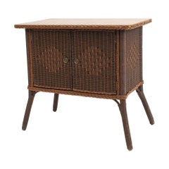 American Wicker Mission Wicker Commode