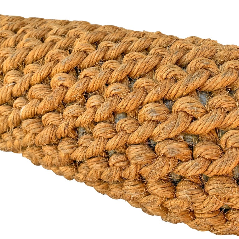 Country American Woven Jute Nautical Bumper For Sale
