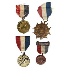 Americana Civil War Medal Collection in Red White and Blue Set of 4