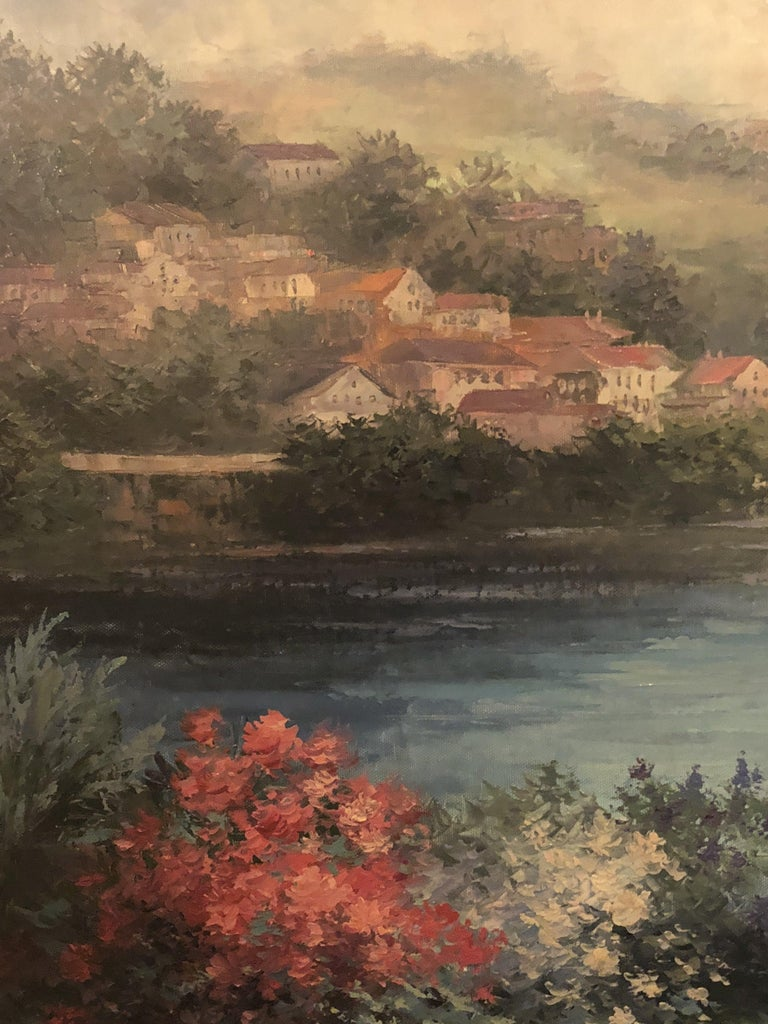 20th Century Americana Landscape Oil on Canvas Painting Signed P. Paul, Framed For Sale