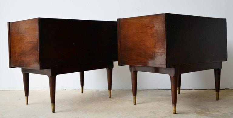 Americano Escandinavo Jean-Michel Frank Attrib Polished Lignum Vitae Side Tables For Sale 1