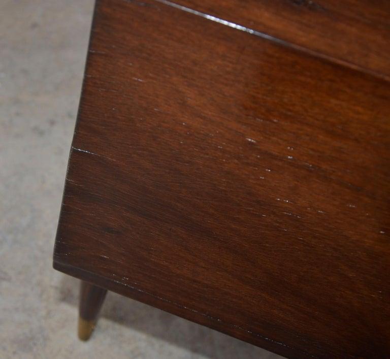 Americano Escandinavo Jean-Michel Frank Attrib Polished Lignum Vitae Side Tables For Sale 6