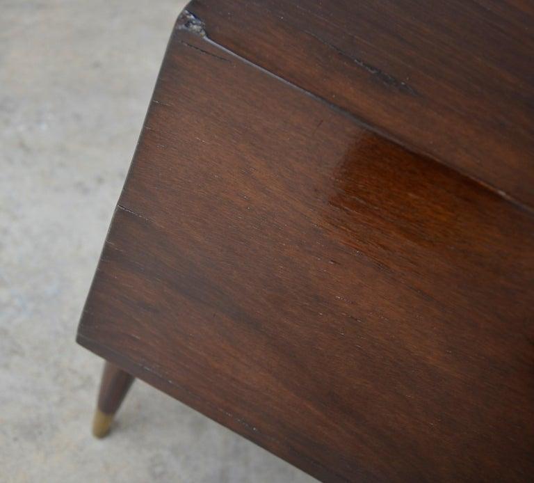 Americano Escandinavo Jean-Michel Frank Attrib Polished Lignum Vitae Side Tables For Sale 7