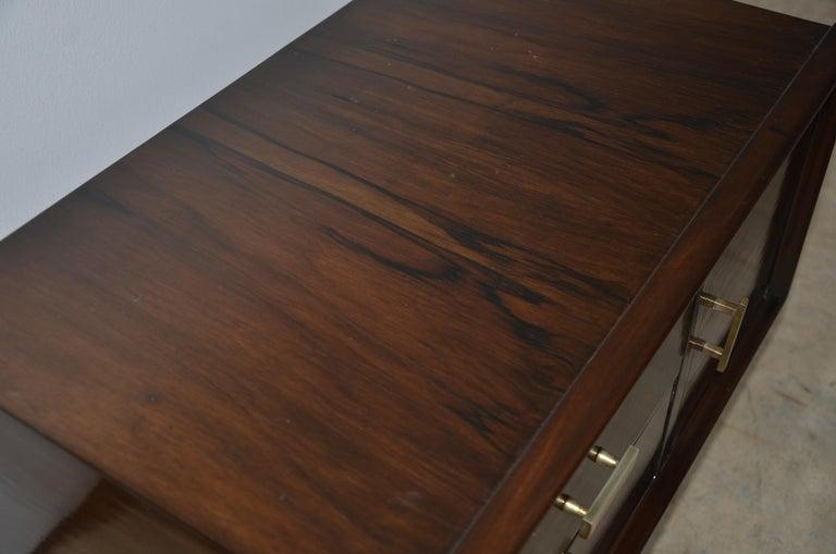 Americano Escandinavo Jean-Michel Frank Attrib Polished Lignum Vitae Side Tables For Sale 8