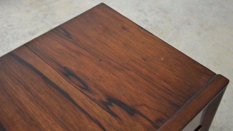 Americano Escandinavo Jean-Michel Frank Attrib Polished Lignum Vitae Side Tables For Sale 9