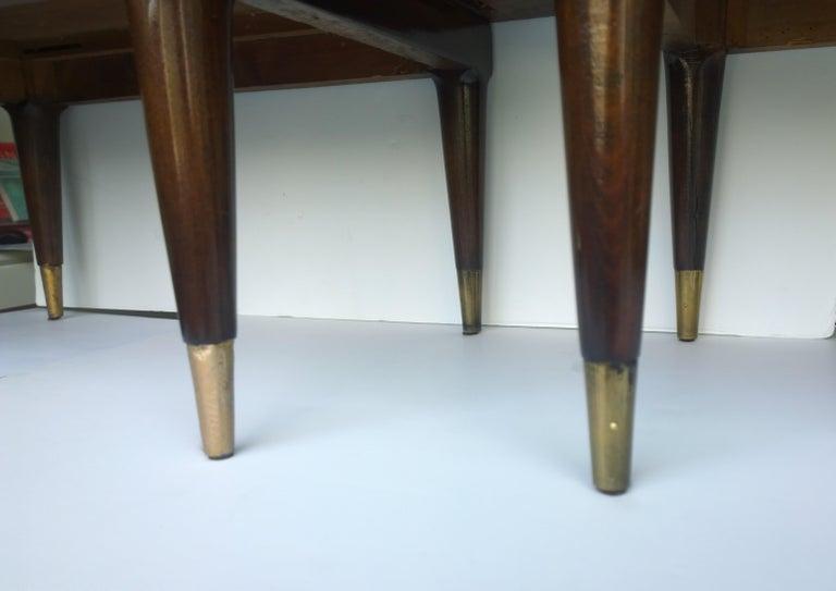 Americano Escandinavo Jean-Michel Frank Attrib Polished Lignum Vitae Side Tables For Sale 11