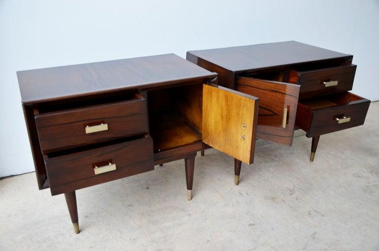 Americano Escandinavo Jean-Michel Frank Attrib Polished Lignum Vitae Side Tables For Sale 12