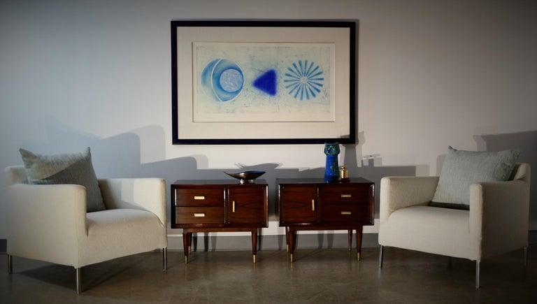 Americano Escandinavo Jean-Michel Frank Attrib Polished Lignum Vitae Side Tables For Sale 13