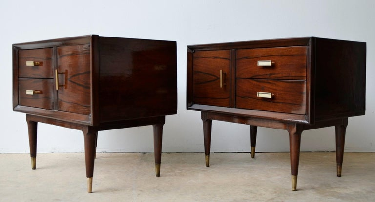 Offered is a pair of Mid-Century Modern Argentine Jean-Michel style