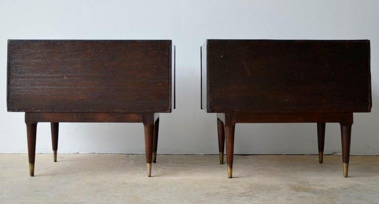 Argentine Americano Escandinavo Jean-Michel Frank Attrib Polished Lignum Vitae Side Tables For Sale