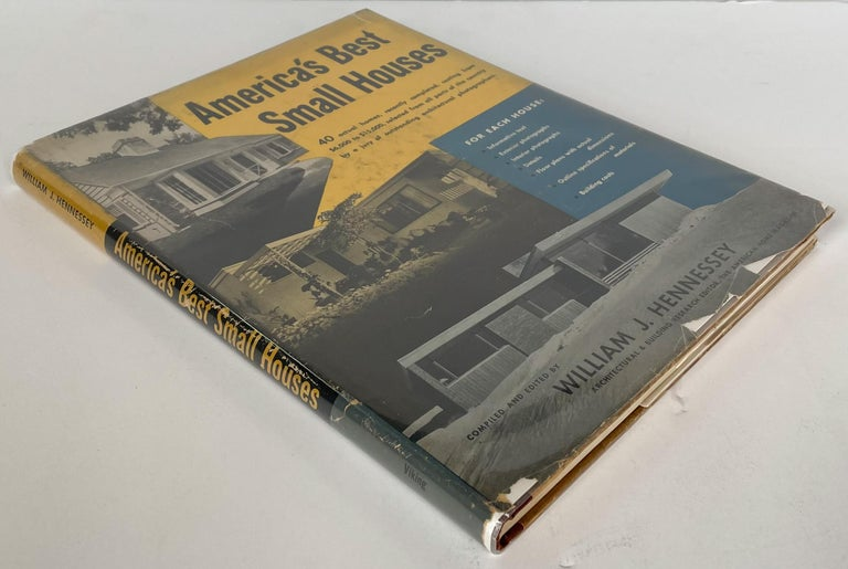 1949 survey of small modernist houses in America, compiled and edited by William J. Hennessey based on selections by a jury of architectural photographers including Richard Garrison, Fred Gund, P.A. Dearborn, and Julius Shulman. Hardcover 4to, 196