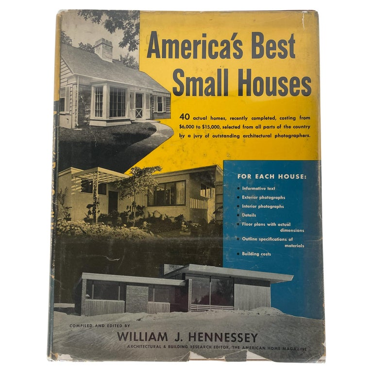 America's Best Small Houses by William J. Hennessey For Sale