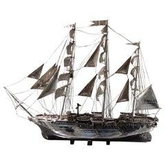 Amerigo Vespucci Sailing Ship 925 Silver