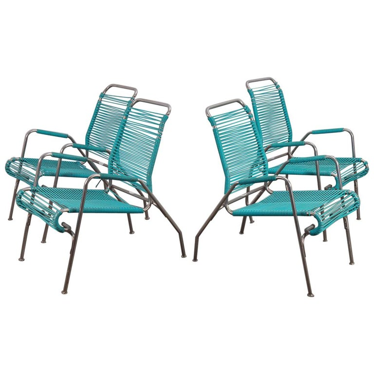 Ames Aire Set Of Four Patio Chairs For Sale At 1stdibs