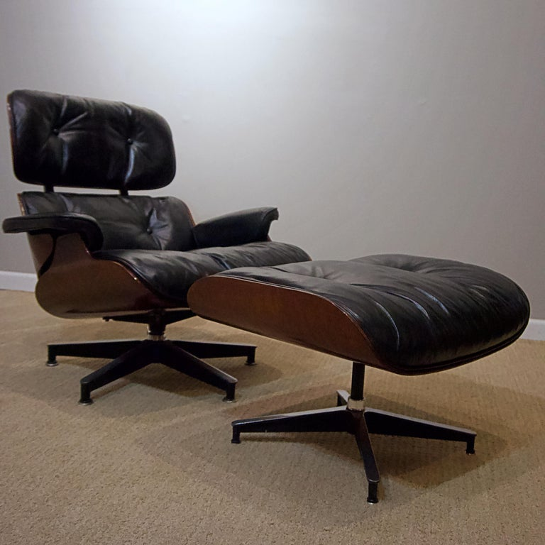"""Ames lounge chair with ottoman. Ottoman dimensions: Width 25 3/4"""", depth 20 3/4"""", height 16 1/2""""."""