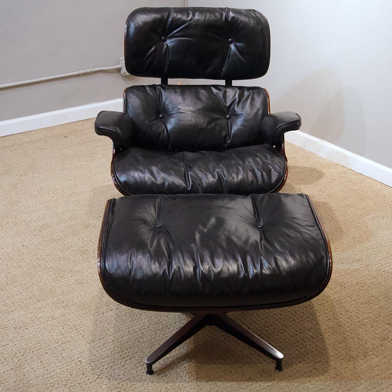 Other Ames Lounge Chair with Ottoman For Sale