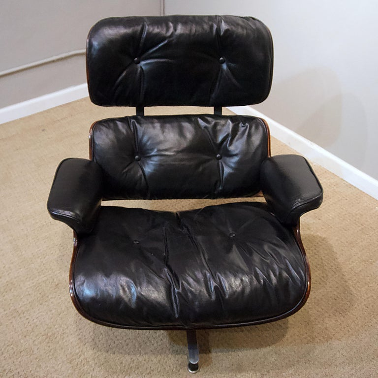 American Ames Lounge Chair with Ottoman For Sale
