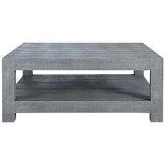 Ames Shagreen Coffee Table in Gray Wood by CuratedKravet