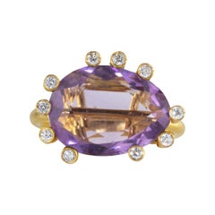 Ico & the Bird Amethyst 12 Carat 18 Karat Diamond Ring