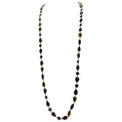 Amethyst and Citrine Long Chain