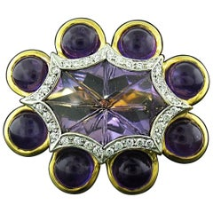 Amethyst and Diamond Ring by Tony Duquette