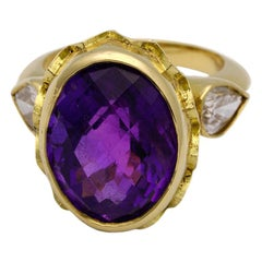 Amethyst and Diamond Vivid Splendour Ring