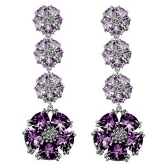 Amethyst and Lavender Amethyst Blossom Renaissance Drop Earrings