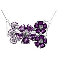 Amethyst and Lavender Amethyst Blossom Renaissance Necklace