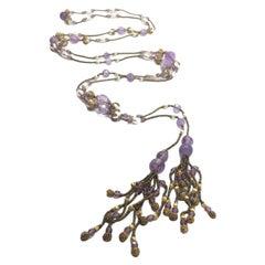Amethyst Antique Sautoir Necklace 1920s