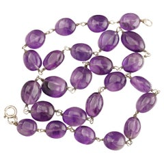 Amethyst Bead Necklace Arts & Crafts Era