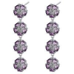 Amethyst Blossom Gentile Chandelier Earrings